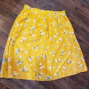 Floral Skirt, size large from Mikarose